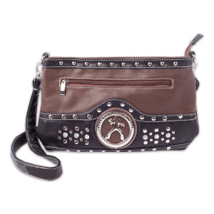Elvis Silhouette Cross Body Bag - Brown