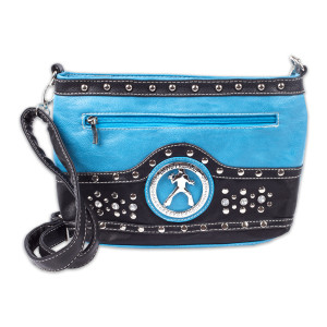 Elvis Silhouette Cross Body Bag - Blue