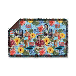 Elvis Blue Hawaii-Woven Throw