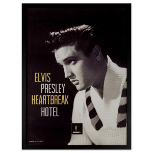 "Elvis Presley ""Heartbreak Hotel"" Framed Wall Art With Postage Stamp"