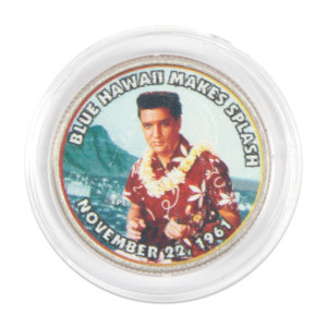"Elvis Presley ""Blue Hawaii Makes Splash"" Colorized State Quarter Coin"