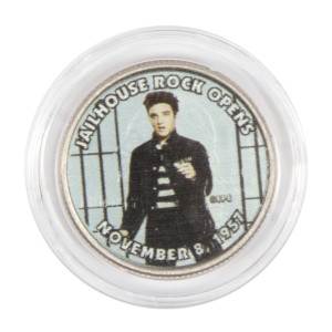 "Elvis Presley ""Jailhouse Rock Opens"" Colorized State Quarter Coin"