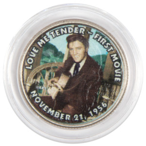 "Elvis Presley ""Love Me Tender - First Movie"" Colorized State Quarter Coin"