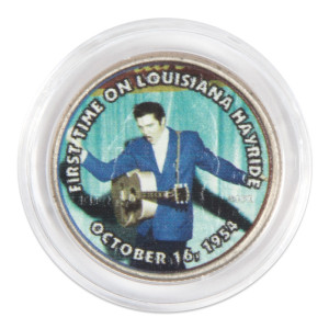 "Elvis Presley ""First Time on Louisiana Hayride"" Colorized State Quarter Coin"