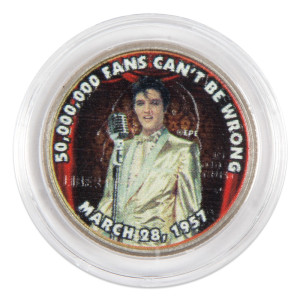 "Elvis Presley ""50,000,000 Fans Can't Be Wrong"" Colorized State Quarter Coin"