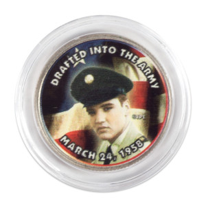 "Elvis Presley ""Drafted Into the Army"" Colorized State Quarter Coin"