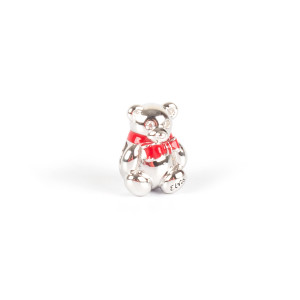 Elvis Silver Charm - Teddy Bear Bead