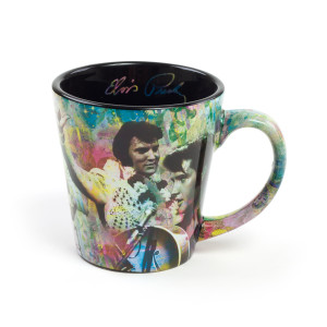 Elvis Presley White Jumpsuit Latte Mug