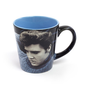 Elvis Presley Blue Sweater Latte Mug