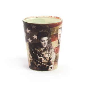 Elvis Presley U.S. Army Shot Glass