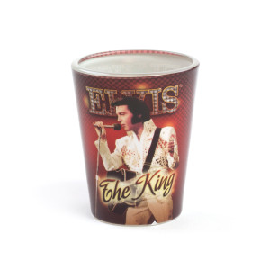 Elvis Presley The King Shot Glass