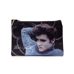 Elvis Blue Sweater Make Up Bag
