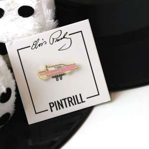 Elvis Pink Cadillac Enamel Pin