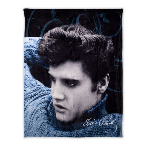 Elvis Presley Blue Sweater Throw