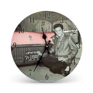 Elvis Presley Pink Cadillac Clock