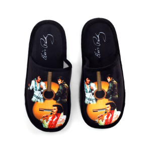 Elvis Presley Black Slippers