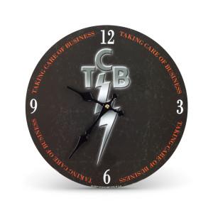 Elvis Presley TCB Logo Clock