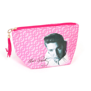 Elvis Presley Pink Makeup Bag