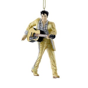 Elvis Gold Lame with Guitar Ornament