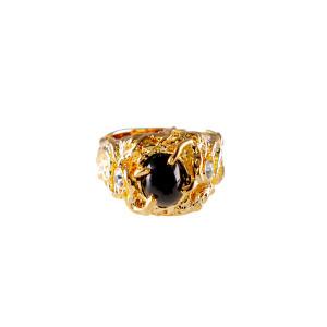 Lowell Hays Black Star Sapphire Ring