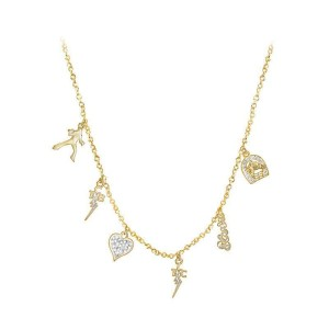 Lowell Hays Gold Plated Charm Necklace