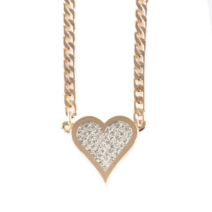 Lowell Hays 18K Gold Plated Heart Necklace