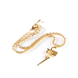 Lowell Hays TCB 18K Gold Plated Anklet