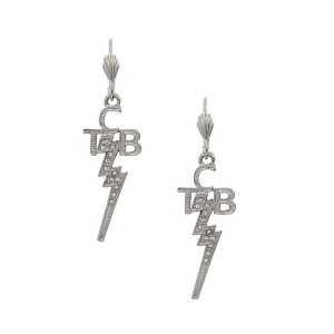 Lowell Hays Sterling Silver Plated Crystal TCB Earrings