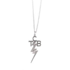 Lowell Hays Sterling Silver TCB Necklace – Reduced Size with 18 Inch Chain