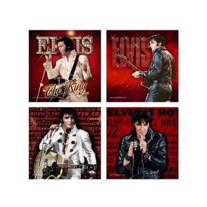 Elvis 68 Red Coasters