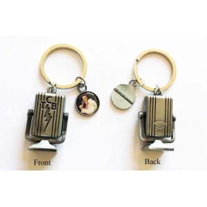 Elvis Keychain Microphone w/ TCB charm