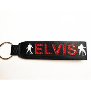 Elvis Keychain Wristlet Rhinestones