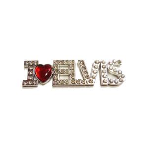 I Love Elvis Rhinestones Magnet