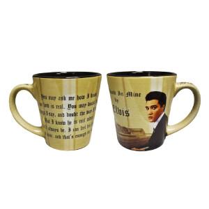 Elvis His Hand In Mine Latte Mug