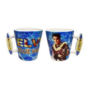 Elvis Blue Hawaii Surfboard Latte Mug