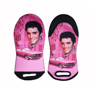Elvis Pink Cadillac Oven Mitt