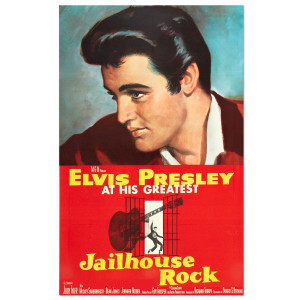 Elvis Jailhouse Rock Movie Poster