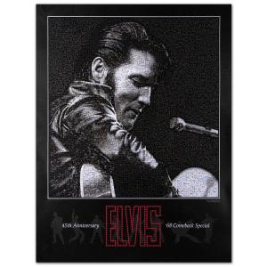 Elvis '68 Special Fan Mosaic Poster