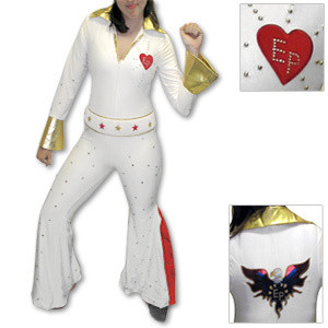 Elvis Women's Jumpsuit Costume