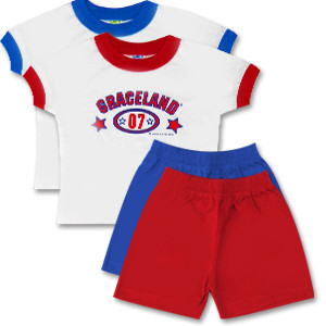 Elvis - Graceland 2007 Tot Shirt and Shorts Set