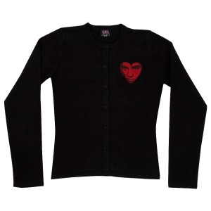 Elvis Love Women's Black Cardigan