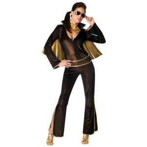 Elvis Women's Jumpsuit Costume - Black