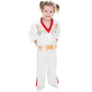 Elvis Toddler White Jumpsuit