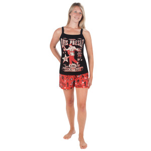 Elvis Is King Ladies Pajama Shorts