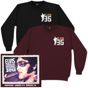 Elvis 2012 Birthday Celebration Sweatshirt
