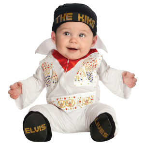 Elvis White Jumpsuit Onesie