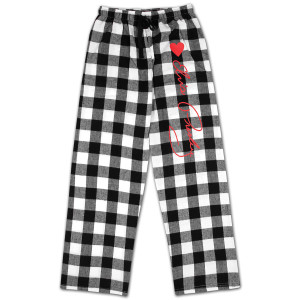 Elvis Heart Plaid Pant