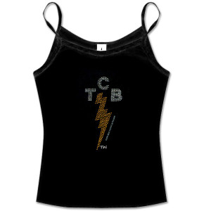 Elvis TCB Rhinestone Black Tank Top