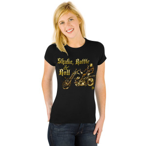 Elvis Shake, Rattle & Roll Womens T-Shirt