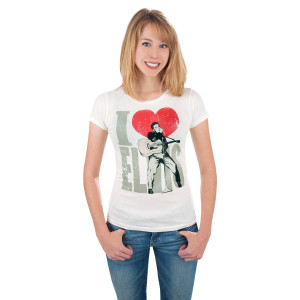 I (Heart) Elvis Women's Crystal T-Shirt